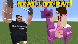 Minecraft: REAL LIFE POPULARMMOS!!! (PAT THROWING WEIGHTS!!) Mod Showcase
