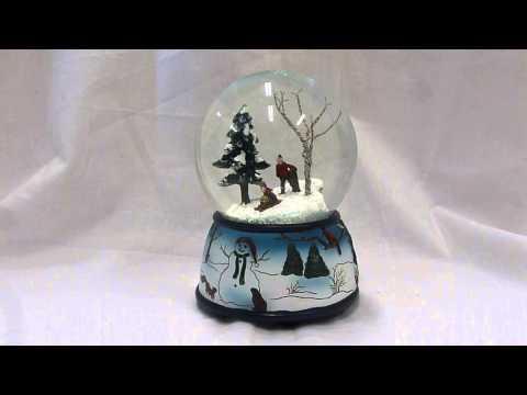 Sledding On a Hill Snow Globe