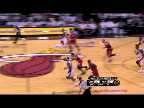 LeBron James blocks Derrick Rose ! -fMeSDrk5IqM