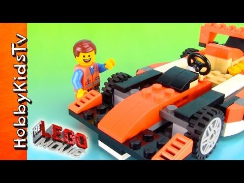 The LEGO Movie, Emmet Builds His RACE CAR! [Toy Review] [Box Open] [31017]