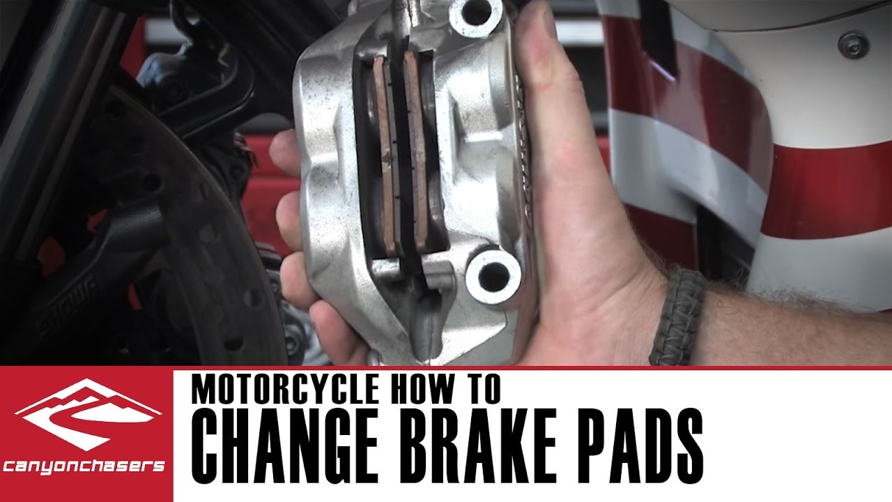 how to change motorcycle brake pads youtube. Black Bedroom Furniture Sets. Home Design Ideas