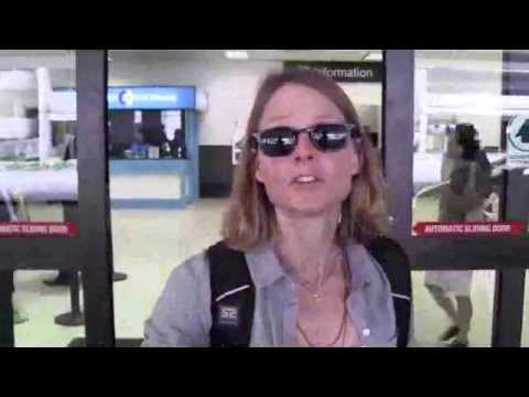 Jodie Foster LA airport arrival