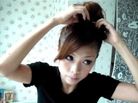 Japanese Hair Bun Tutorial - YouTube