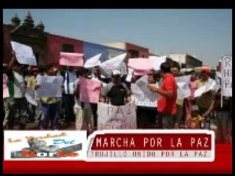 Multitudinaria Marcha por la Paz y Seguridad en Trujillo