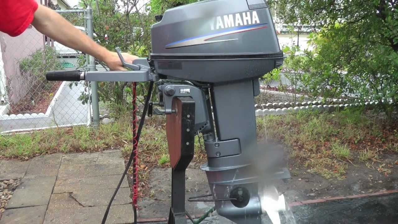 2006 yamaha 25hp 2 stroke short shaft outboard motor youtube for Yamaha outboard compression test results
