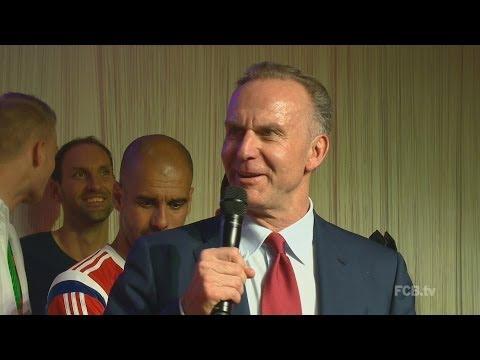 Komplette Bankettrede von Karl-Heinz Rummenigge - DFB-Pokalfinale 2014 Dortmund vs. FC Bayern