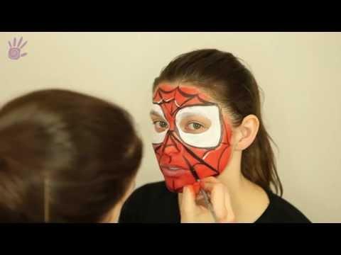 Malowanie buziek, Malowanie twarzy, Face Painting # 4 - Spiderman