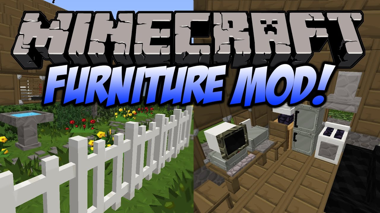 Minecraft Furniture Mod Couches Ovens Computers And More Mod Spotlight 1 6 4 Youtube