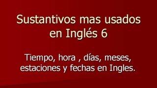 Sustantivos En Inglés 6, Palabras Mas Usadas En Inglés