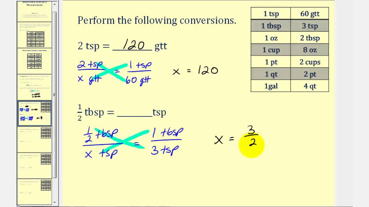 Household Measurements and Conversions - YouTube