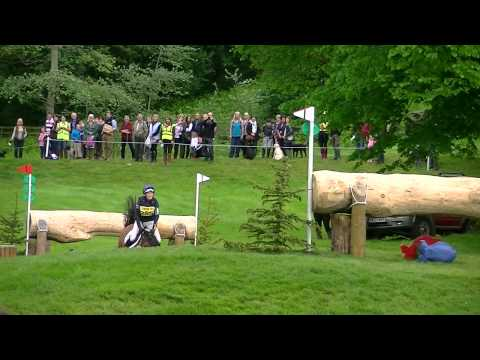 Zara Phillips and High Kingdom coming 3rd at Bramham Horse Trials 2012 CIC3* - Water Jump