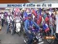 Gujarat Polls Amid restrictions Hardik Patel holds massive road show in Ahemdabad