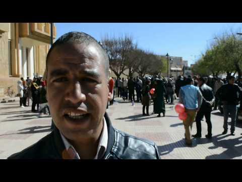 ميدلت- تصريحات المشاركين في مسيرة الاساتذة المتعاقدين