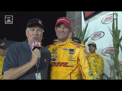 RACER: Ryan Hunter Reay Iowa Winner