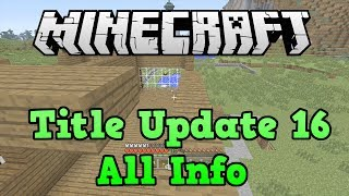 Minecraft Xbox 360 + PS3 TU16 Features And Release Date
