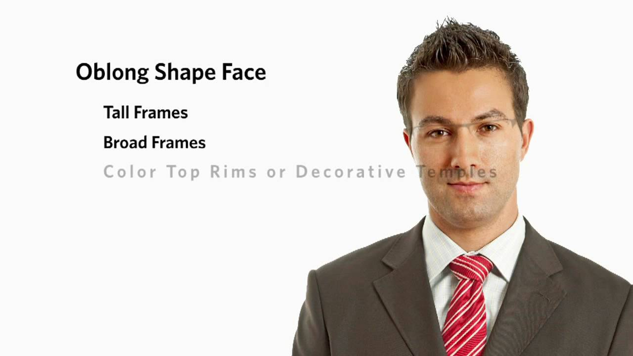 Spectacles For Oval Face Male : Frames for an Oblong Face Shape - Male - YouTube