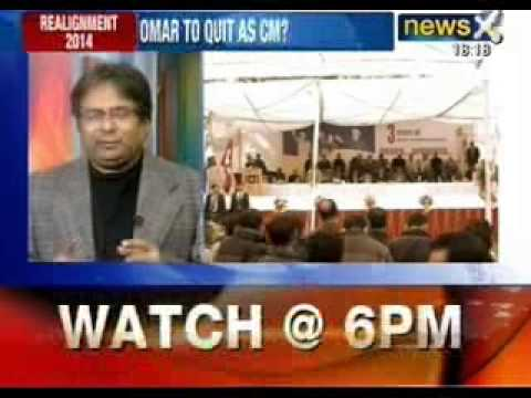 Omar Abdullah may resign, over Congress-NC on a verge to split - NewsX