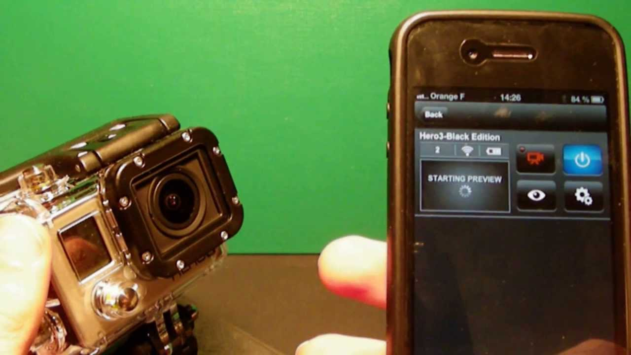 how to connect gopro hero 1 to iphone