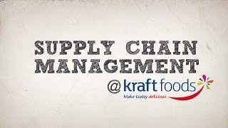 Supply Chain Management Process Followed By Kraft Foods