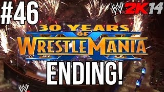 WWE 2K14 30 Years Of WrestleMania Ending! The Rock Vs