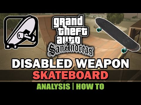 GTA San Andreas - Cut Skateboard [Analysis] [Mod in the description]