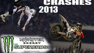 All 2013 AMA Supercross Crashes