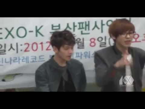 [Fancam] 120508 EXO-K BAEKHYUN &amp; CHANYEOL @ Busan Fansign