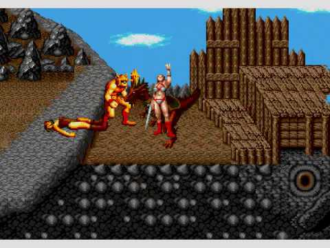 Sega Mega CD Golden Axe Game Intro and Gameplay