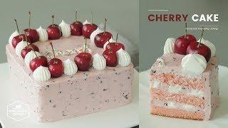체리 케이크 만들기 : Cherry Butter Cream Cake Recipe : チェリーケーキ | Cooking tree