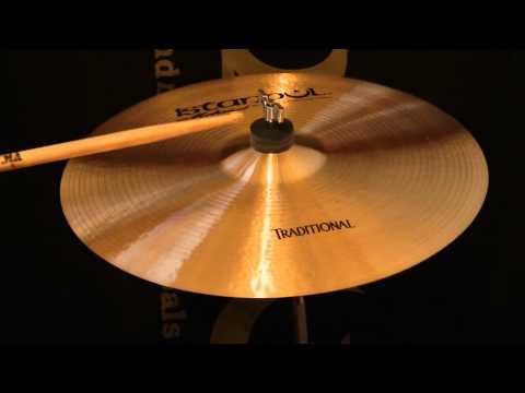 "Istanbul Traditional 15"" Thin Crash Cymbal"