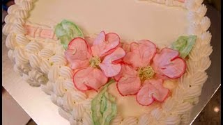 Heart Shaped Birthday Cake With Dogwood Flowers- How To