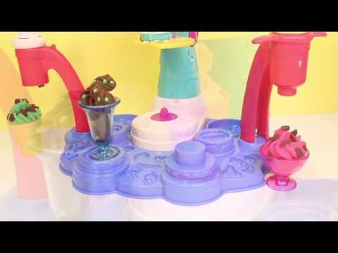 Đất nặn Play-doh- Bộ đồ chơi làm kem bằng đất nặn.
