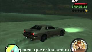 Gta S.A. Carro E Andando Na água/carro Louco