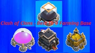 Clash Of Clans Best Th 9 Farming Base Speed Builder