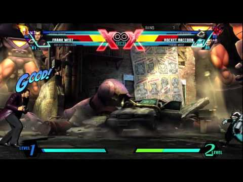 Ultimate Marvel Vs Capcom 3 - Frank West Rocket Raccoon Firebrand Ghost Rider (Clip 2 of 2)