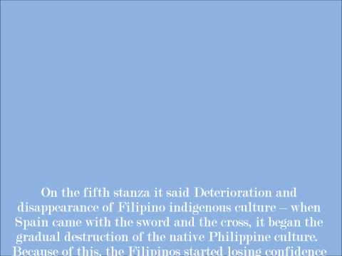 Poem interpretation - To the Philippine Youth by DR. jose Rizal