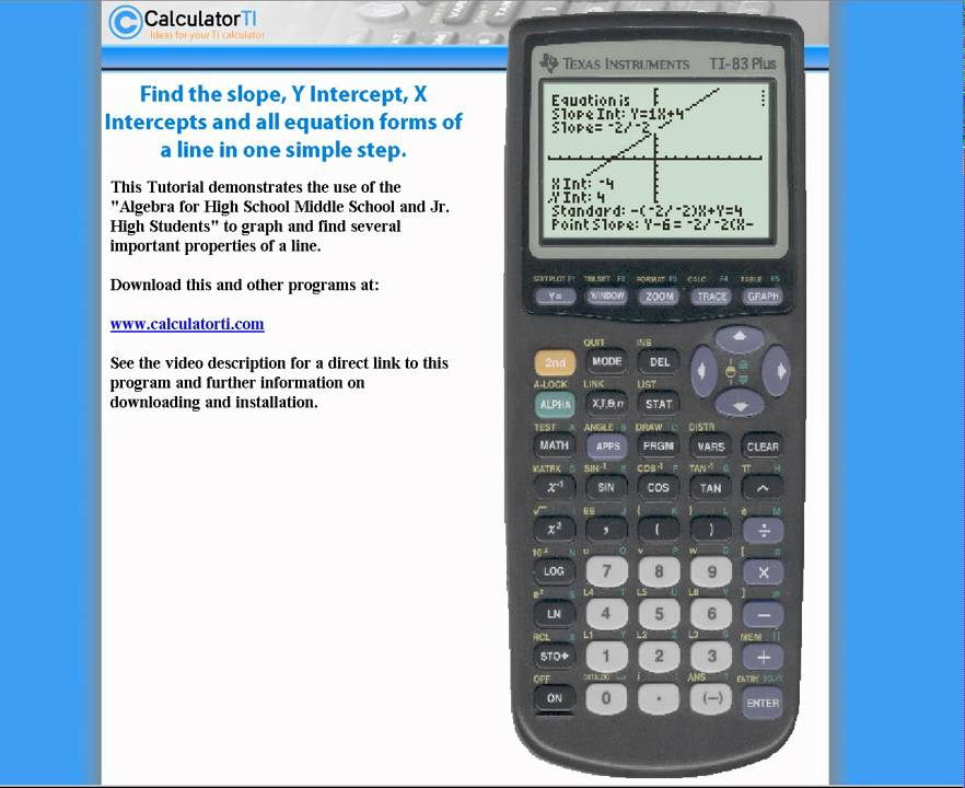 how to find equation of a line on ti-83