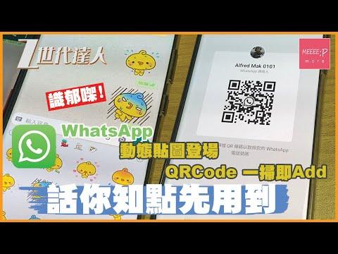 突發! WhatsApp 動態貼圖登場!實機測試 - QRCode 一掃即Add登場!話你知點先用到!Whatsapp Animated Sticker Whatsapp QRCode