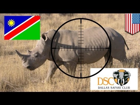 Permit for black rhino auctioned for US$350,000
