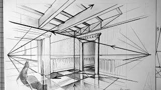 Page 1 hoe teken je perspectief landschap mp3 fast for Interieur tekenen
