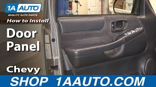 How To Install Replace Door Panel Chevy S-10 Blazer 4 Door