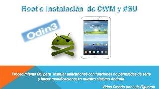 """[Tutorial] """"Root, Instalar CWM Y #SU"""" Samsung Galaxy Tab"""