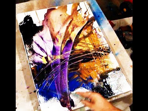 Two best tricks in creating acrylic painting effects and for Acrylic paint effects