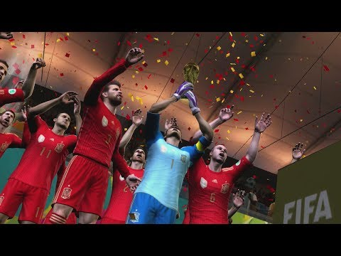 2014 FIFA World Cup Brazil: Spain wins the World Cup! (HD Gameplay)