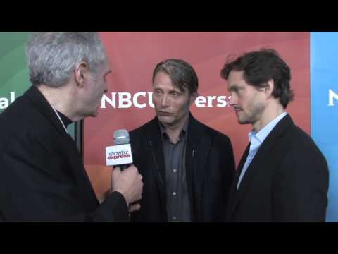 Hannibal's Mads Mikkelsen & Hugh Dancy Talk w/ Ross Crystal