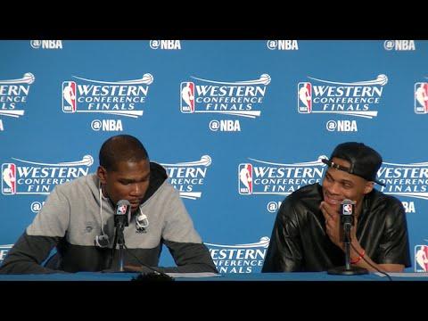 問到Stephen Curry的防守能力有否被低估,Westbrook給出了這個反應…