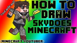 How To Draw SkyDoesMinecraft Minecraft Youtubers