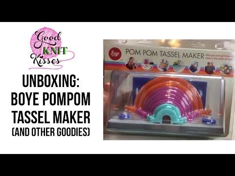 Unboxing Boye Pom Pom Tassel Maker and others goodies FB Live Apr 19 2017