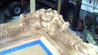 How To Paint A Big Mirror Frame