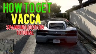 GTA 5 (V): How To Get A Vacca (works 100%) ( Lamborghini